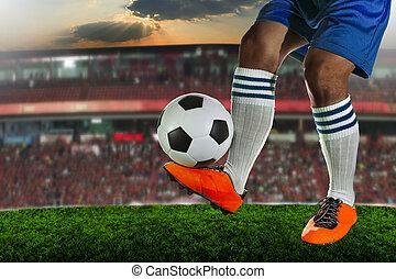futbol, fútbol, jugadores, juego
