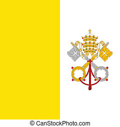 Vatican City flag, detailed vector illustration.