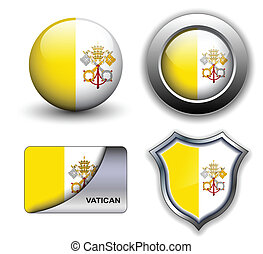 Vatican City icons - Vatican City flag icons theme