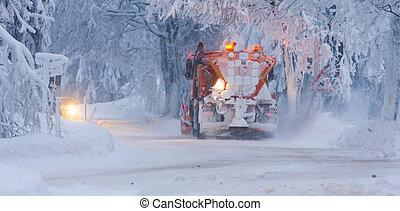 snow plough, Czech Republic
