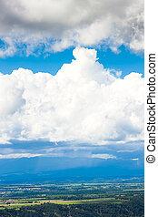 clouds over landscape of Alpes de Haute Provence, France