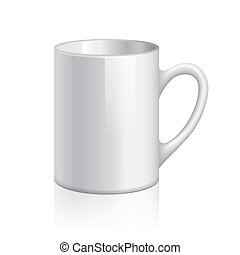 White cup vector illustration