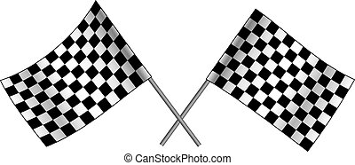 Checkered flag illustration
