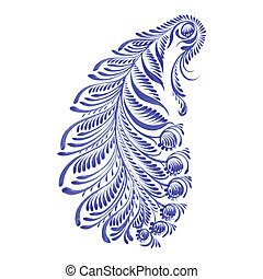 floral decorative ornament paisley - hand drawn illustration...