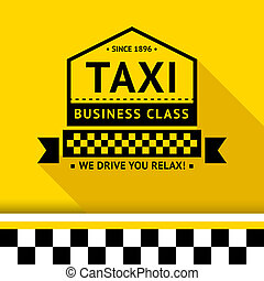 Taxi badge 08 - Taxi badge with shadow - 08, vector...