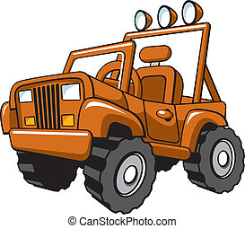 jeep - Vector illustration of an off-road ATV jeep vehicle.