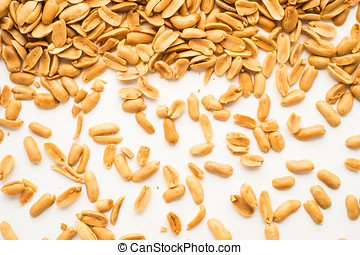 peanuts on white isolated