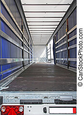 Lorry - Interior view of empty semi truck lorry