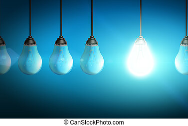 Lightbulb eco concept - Colorful shiny lightbulb...