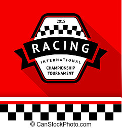 Racing badge 05, vector illustration