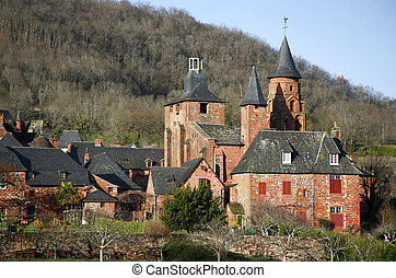 Collonges-la-rouge - Church and village of...