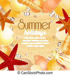 Summer holiday vacation travel poster - Summer holiday...