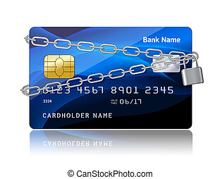 Payment security of credit card with chip protection concept...