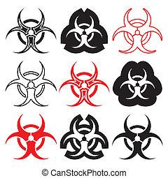 Biohazard symbols - Various vector biohazard symbols...