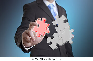 Businessman impossible solution concept - Businessman...