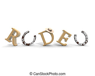 rodeo - a 3d rendering to illustrate the word rodeo