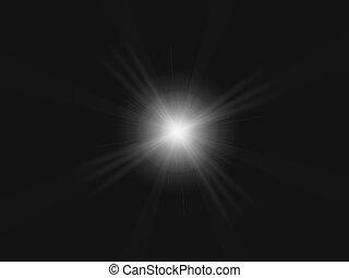 wallpaper light lens flar - photographic lens flar on a...
