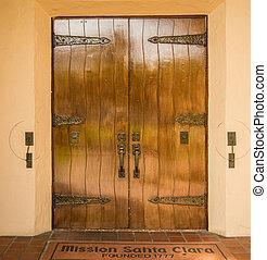 antique doors at California Mission