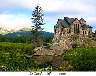 CHURCH NEAR ESTAS PARK, CO - St. Malo's church near Estes...