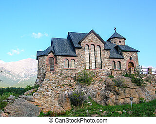 CHURCH NEAR ESTAS PARK - St. Malo's church near Estes Park