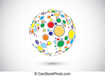 Abstract globe iconVector illustration