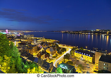 Quebec City And St Lawrence River - View from an observation...
