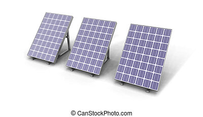 solar panels - a digital image of some solar panels