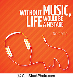 Bright headphones music wallpaper background vector...