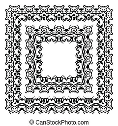 Ornamental  Frame. - Vector border. Ornamental  Frame.
