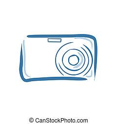 Digital Camera - Vector illustration : Digital Camera on a...