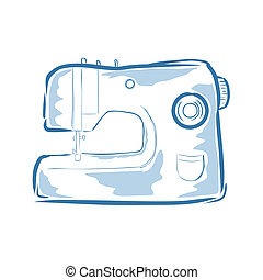 Sewing machine - Vector illustration : Sewing machine on a...