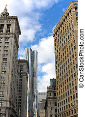 Lower Manhattan Architecture - Manhattan Borough Hall and...