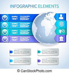 Abstract paper business infographics elements - Abstract...