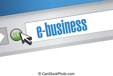 ebusiness search bar on a browser. illustration design...