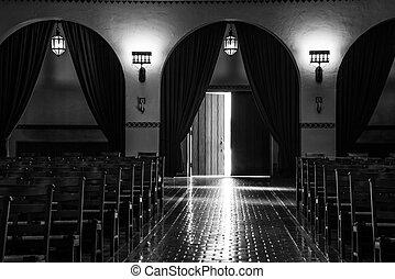 possibilities, open door, light - open door from the inside...