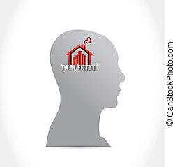 real estate home sign illustration design