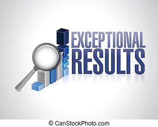 exceptional business results graph illustration