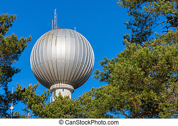 Water tower with a spherical top - STOCKHOLM, TULLINGE -...