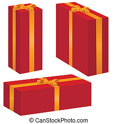 vector gift box set