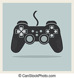 Computer Video Game Controller Joystick Vector - Computer...