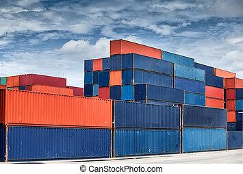 carga, Pila, contenedores