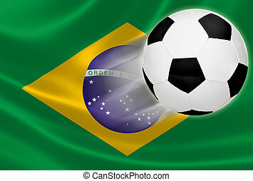 World Cup 2014: Soccer Ball Flying Out of Brazilian Flag -...