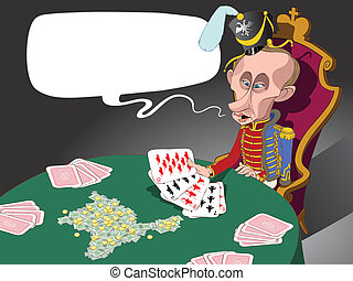Russian president Putin and his military cards - Russian...