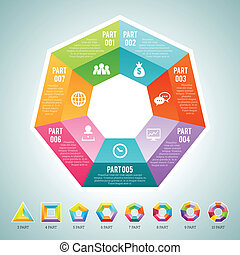 Polygon Infographic Elements - Vector illustration of a set...
