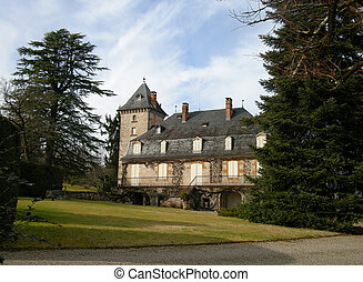 mansion - chateau and gardens in Correze in France