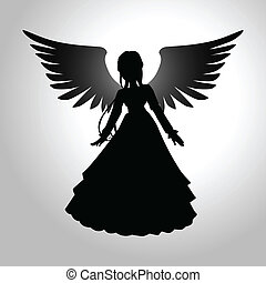 Angel - Silhouette illustration of an angel