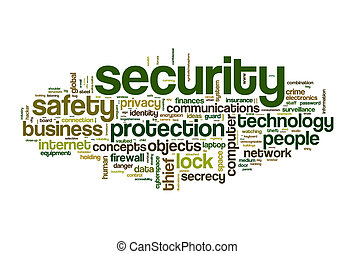 securety word cloud - securety safety word cloud concept...