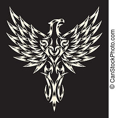Heraldry Eagle - fully editable vector illustration editable...