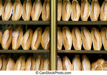 bakery - bread on display in bakery