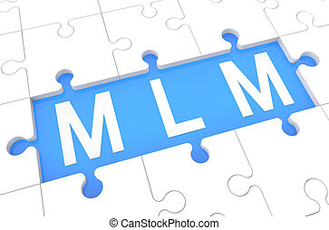 Multi Level Marketing - puzzle 3d render illustration with...